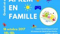 """Dans le cadre de la Semaine de la Parentalité : rendez-vous le Mercredi 18 Octobre 2017 de 14h00 à 18h00 au Centre Social Espace Carnot pour """"1 MERCREDI APREM […]"""